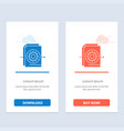 document file gear settings blue and red download vector image vector image