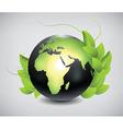 eco globe vector image vector image