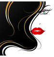 face of a beautiful girl with golden curls hair vector image vector image