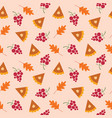 fall seamless pattern - thanksgiving vector image