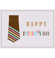 Fathers day design card background vector image vector image