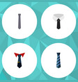 flat icon necktie set of cravat collar tailoring vector image vector image