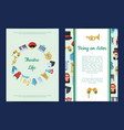 flat theatre icons card or flyer vector image vector image