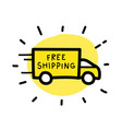 Free shipping truck hand drawn outline doodle icon