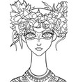 girl with a decoration on her head 15 vector image