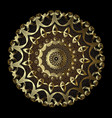 gold lacy vintage 3d mandala pattern round lace vector image