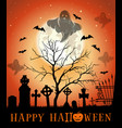 halloween design greeting card with haunted vector image