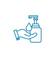 hand hygiene linear icon concept hand hygiene vector image vector image