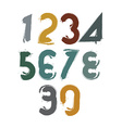 Handwritten colorful numbers stylish numbers set vector image vector image
