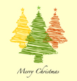 Happy New Year Merry Christmas With Hand drawn vector image vector image