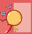 heart and diamonds vector image