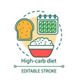 high carb diet concept icon vegetarian nutrition vector image vector image