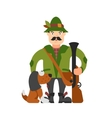hunter with a dog vector image