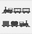 icon of locomotives with passenger and freight vector image