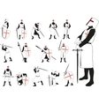 Knight in different poses vector image vector image