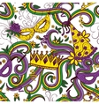 Mardi Gras colorful background vector image vector image