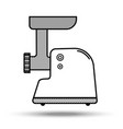 meat grinder in line art style vector image