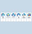 mobile app onboarding screens digital marketing vector image vector image