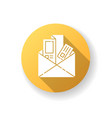 newsletters and brochures yellow flat design long vector image