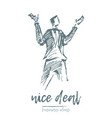 nice deal concept business man sketch vector image vector image