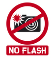 no flash sign vector image