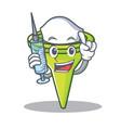 nurse funnel character cartoon style vector image vector image