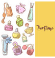 perfume bottles hand drawn doodle vector image vector image
