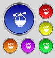 Perfume icon sign Round symbol on bright colourful vector image