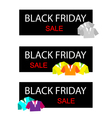 Polo Shirts on Black Friday Sale Banner vector image