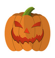 pumpkin cartoon icon on green background vector image vector image