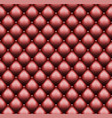 red leather upholstery with sewin rivets vector image