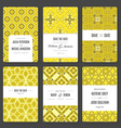 Save The Date card collection vector image vector image