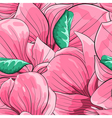 seamless background with pink magnolia vector image vector image