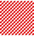 Seamless geometric pattern red color vector image vector image