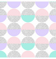 seamless retro memphis pattern with round vector image vector image