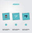 set of shop icons flat style symbols with straight vector image