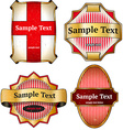 Set of vintage cardboard labels vector image vector image