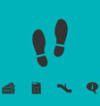 shoes icon flat vector image vector image