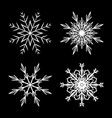 snowflake design set outline for christmas vector image