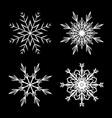 snowflake design set outline for christmas vector image vector image