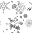 snowflake pattern white vector image vector image