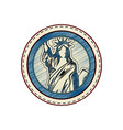 statue of liberty icon vector image vector image