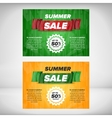 Summer Sale flyer template vector image vector image