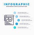 wallpaper poster brochure blue infographics vector image