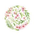 watercolor arrangement pink flowers and vector image