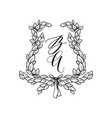 wedding stationery ornament vector image vector image