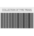 Wheel or tire tyre treads car tracks vector image vector image