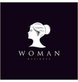 woman head silhouette beauty hair facial vector image vector image