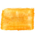 yellow watercolor stain background vector image vector image