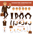 man character constructor businessman face suit vector image